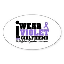 I Wear Violet For Girlfriend Oval Decal