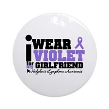 I Wear Violet For Girlfriend Ornament (Round)