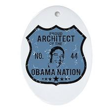 Architect Obama Nation Oval Ornament