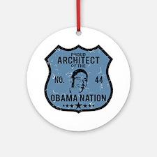 Architect Obama Nation Ornament (Round)