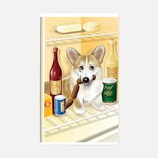 """Food Hound"" - Corgi Rectangle Decal"