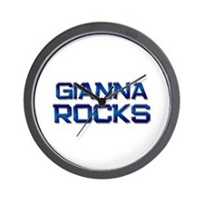 gianna rocks Wall Clock