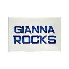 gianna rocks Rectangle Magnet