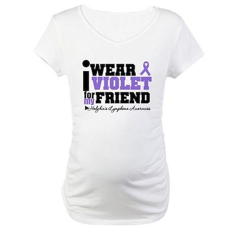 I Wear Violet For Friend Maternity T-Shirt