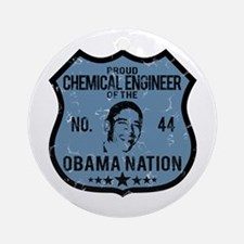 Chemical Engineer Obama Nation Ornament (Round)