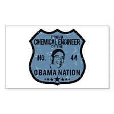 Chemical Engineer Obama Nation Rectangle Decal