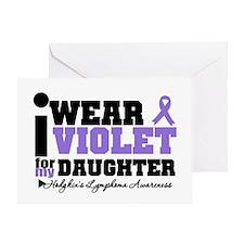 I Wear Violet For Daughter Greeting Card