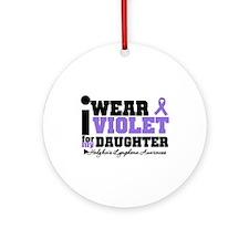 I Wear Violet For Daughter Ornament (Round)
