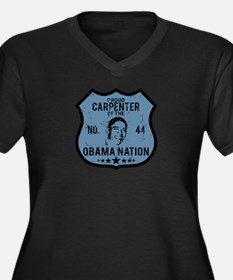 Carpenter Obama Nation Women's Plus Size V-Neck Da