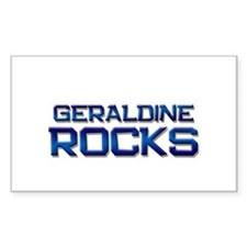 geraldine rocks Rectangle Decal