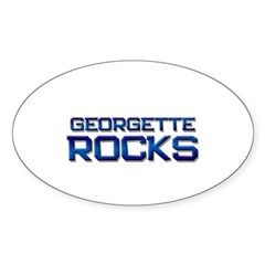 georgette rocks Oval Decal