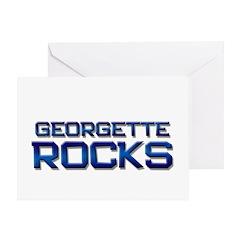 georgette rocks Greeting Card