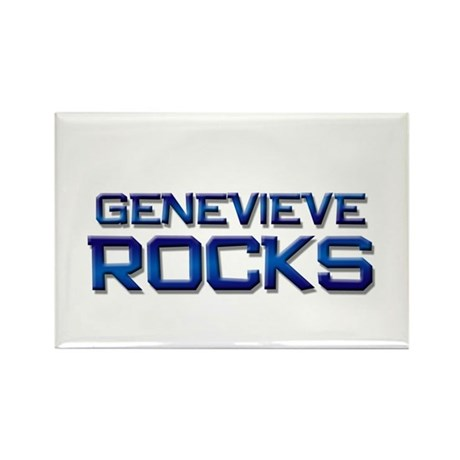 genevieve rocks Rectangle Magnet