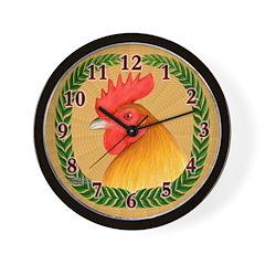 Single Comb Cock Wall Clock