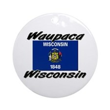 Waupaca Wisconsin Ornament (Round)