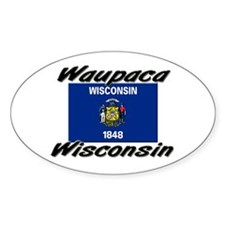 Waupaca Wisconsin Oval Decal