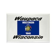 Waupaca Wisconsin Rectangle Magnet