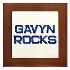 gavyn rocks Framed Tile