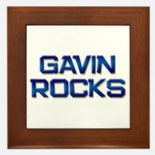 gavin rocks Framed Tile