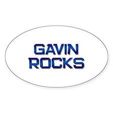 gavin rocks Oval Decal