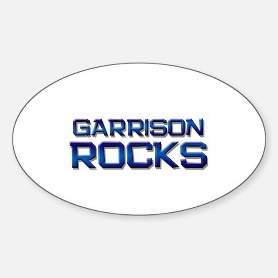 garrison rocks Oval Decal