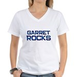 garret rocks Women's V-Neck T-Shirt