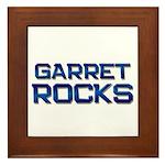 garret rocks Framed Tile