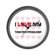 I Love My Theater Producer Wall Clock