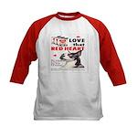 Kids Red Heart Dog Food Baseball Jersey