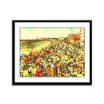 Framed Panel Print of a Southern Caliofrnia Beach