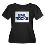 gail rocks Women's Plus Size Scoop Neck Dark T-Shi