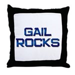 gail rocks Throw Pillow