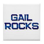 gail rocks Tile Coaster
