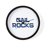 gail rocks Wall Clock