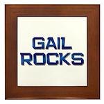 gail rocks Framed Tile