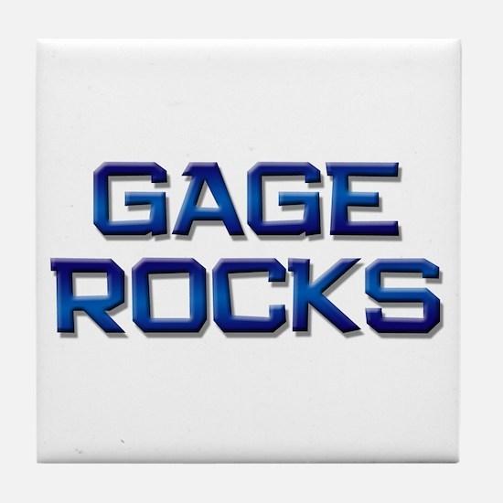 gage rocks Tile Coaster