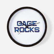 gage rocks Wall Clock