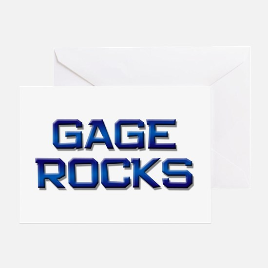 gage rocks Greeting Card