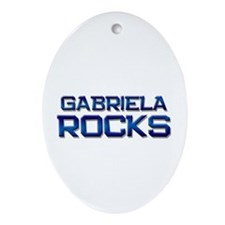 gabriela rocks Oval Ornament