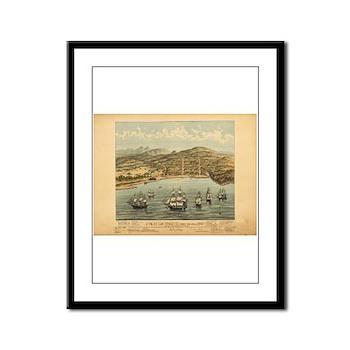 Antique Maps Framed Panel Print
