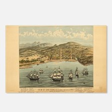 Antique Maps Postcards (Package of 8)