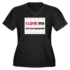 I Love My Textile Designer Women's Plus Size V-Nec