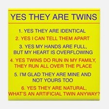 Twins Questions Identical Tile Coaster