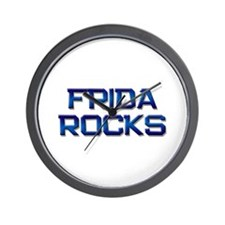 frida rocks Wall Clock