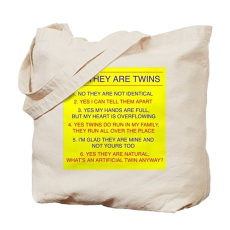 Twins Questions Fraternal Tote Bag