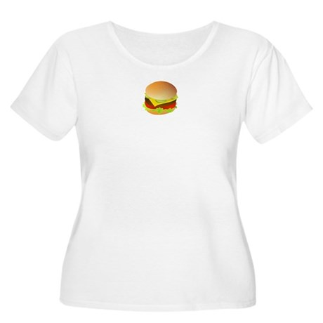 Cheeseburger Women's Plus Size Scoop Neck T-Shirt