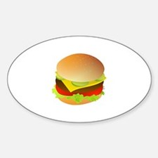 Cheeseburger Oval Decal
