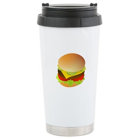 Cheeseburger Stainless Steel Travel Mug