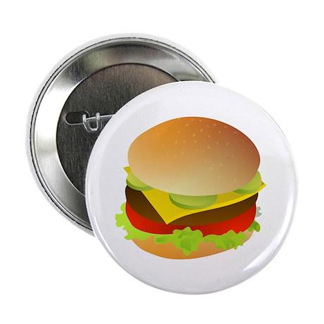 """Cheeseburger 2.25"""" Button (10 pack)"""