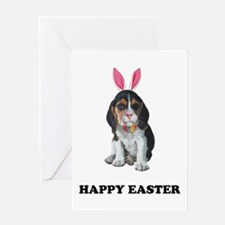 Easter Bunny Beagle Greeting Card
